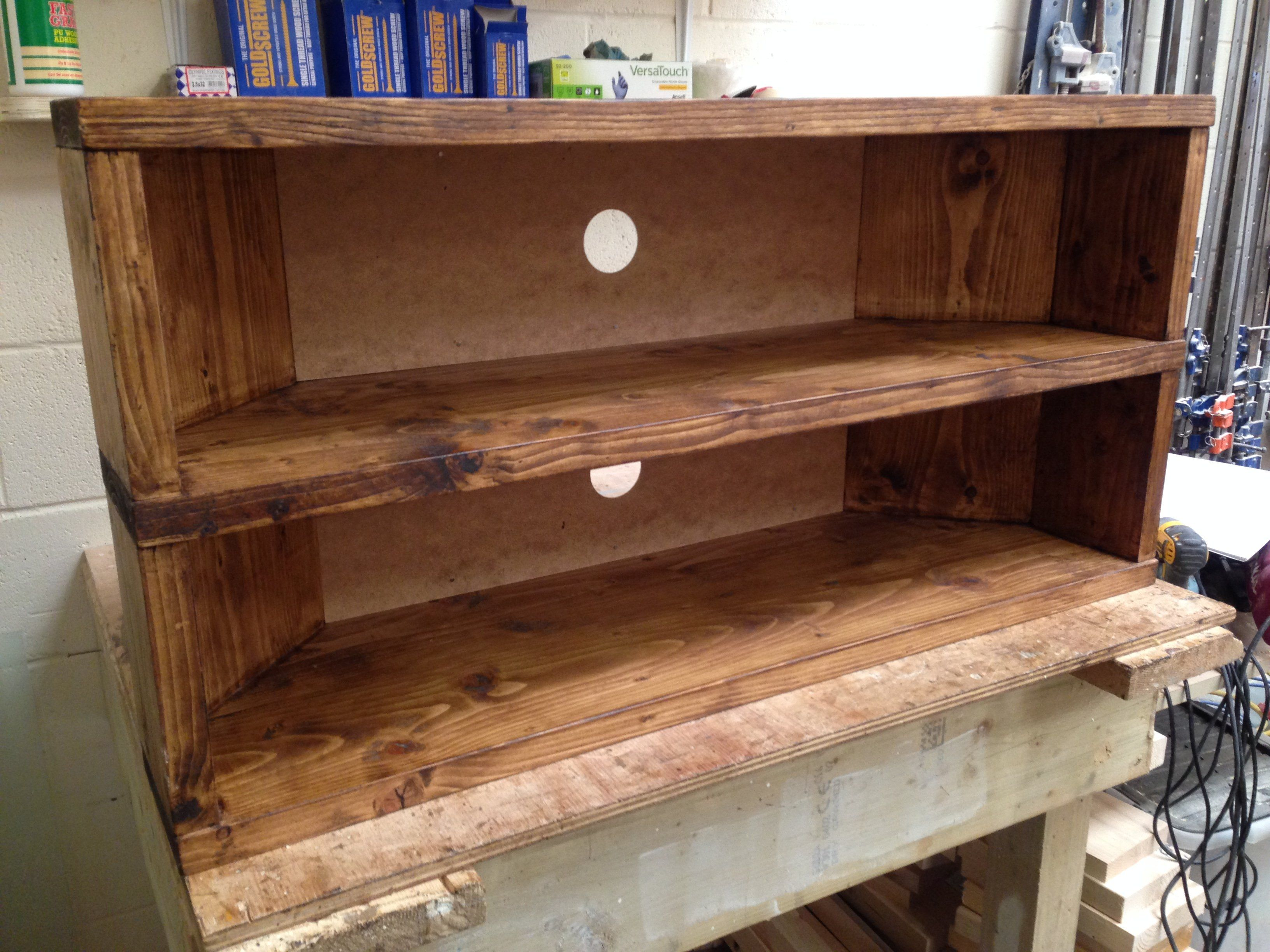 You Are Viewing My Handcrafted Rustic Corner Tv Standcabinet The