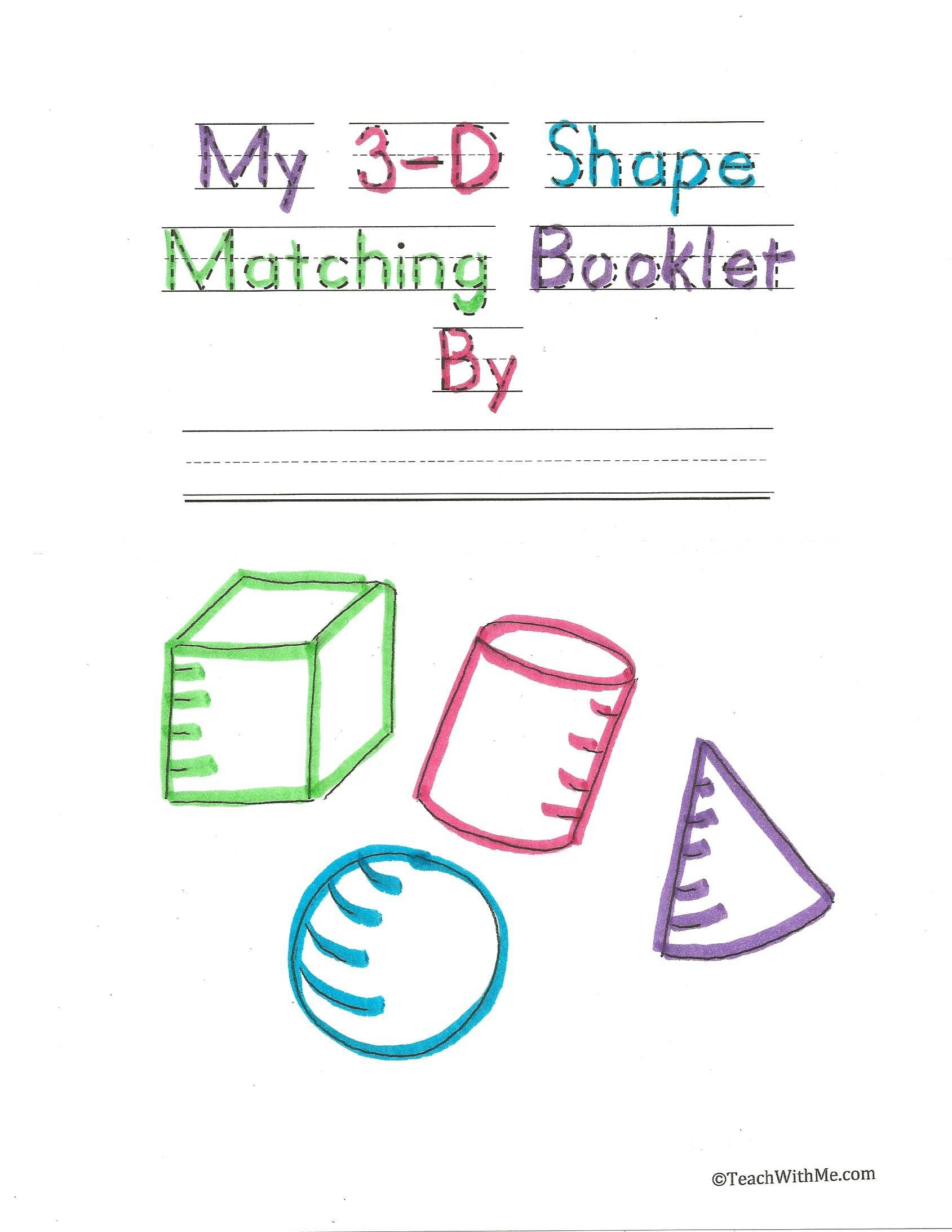My 3 D Matching Booklet