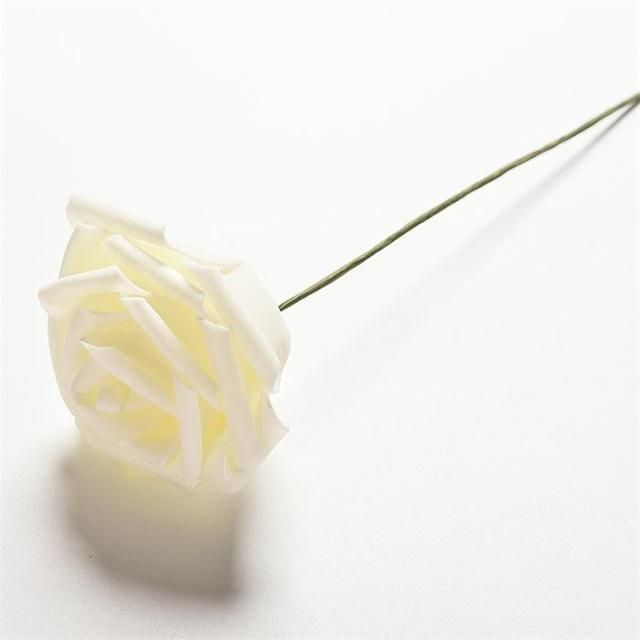 8cm 6Colors Single Head Multicolor Pe Rose Foam Flower Bouquet Pe Flower/Scrapbooking Artificial Rose DIY Flower