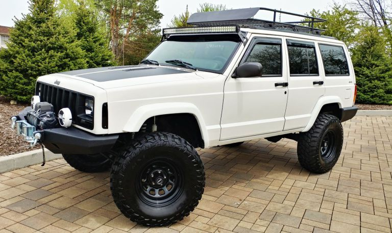 1998 JEEP CHEROKEE SPORT XJ LIFTED 83K LOW MILES 4×4 (With