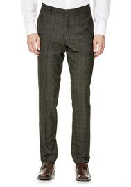 F&F Brown Heritage Check Slim Fit Suit Trousers
