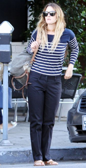 Drew Barrymore Street Style 2012 Barrymores casual style