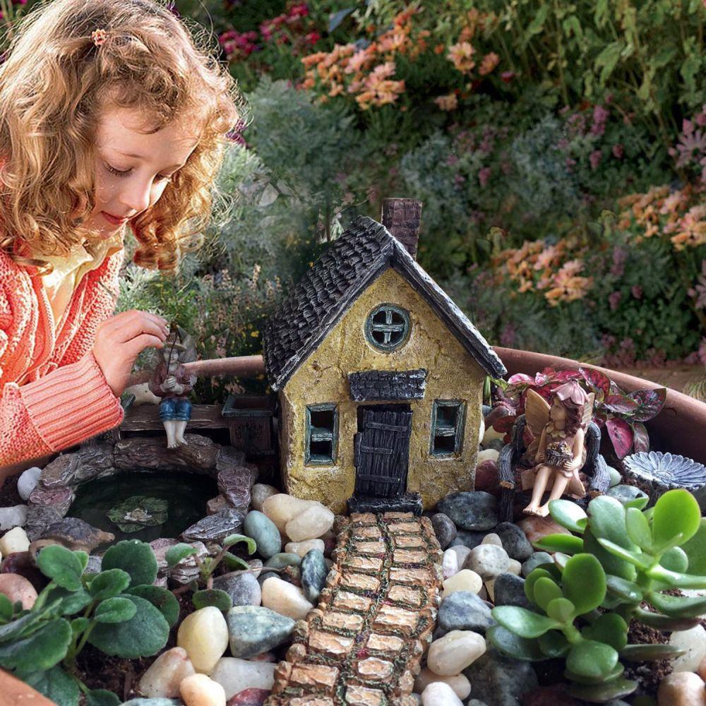 Fairy Garden Accessories Kit Miniature Fairy House Outdoor Decor