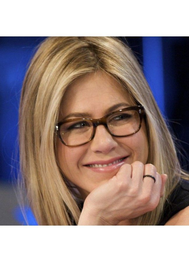 ca2a682a195 Jennifer Aniston Style Skinny Squared Clear Glasses - Celebrity Sunglasses  - Collections