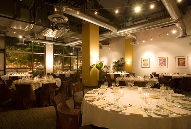 one market restaurant. with two private dining rooms, and can