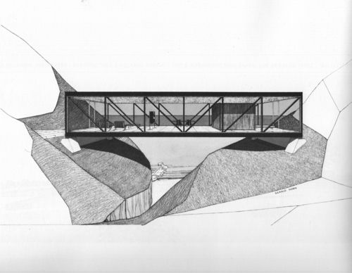 Craig Ellwood, Weekend House Project, 1964.