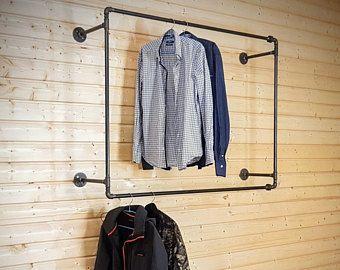 Store Fixture, Industrial Garment Rack, Steampunk Clothes Rack, Clothing  Rack, Garment Rack