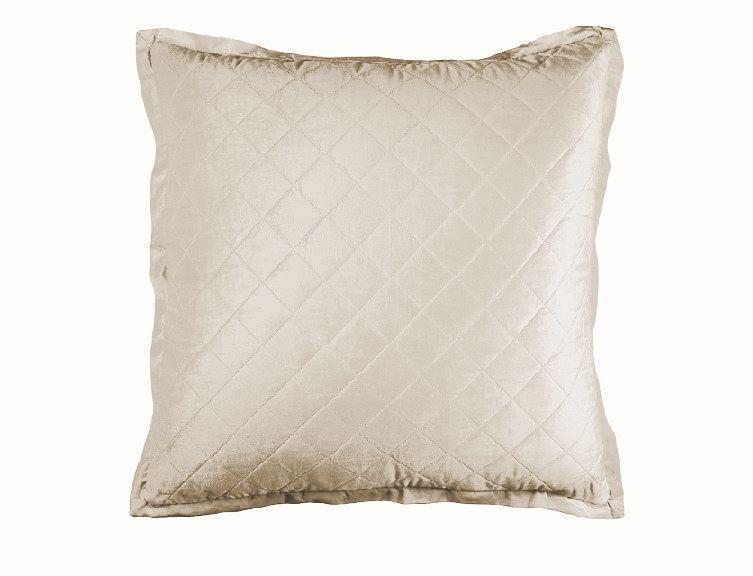 Chloe European Pillow Ivory Velvet 26 X 26 L190li W European Pillows Velvet Bed Ivory Bedding