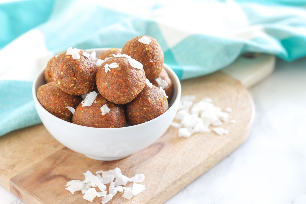 Coconut carrot cake protein bites protein bites peanut