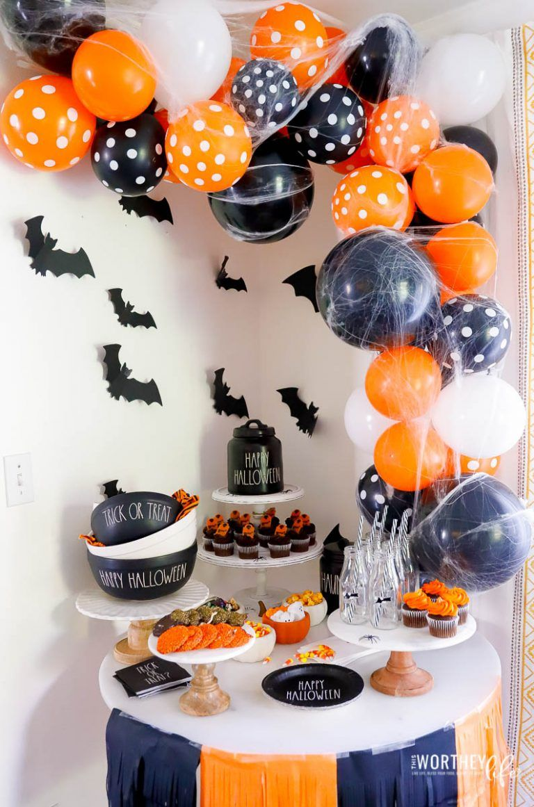 Orange and Black Halloween Party Idea