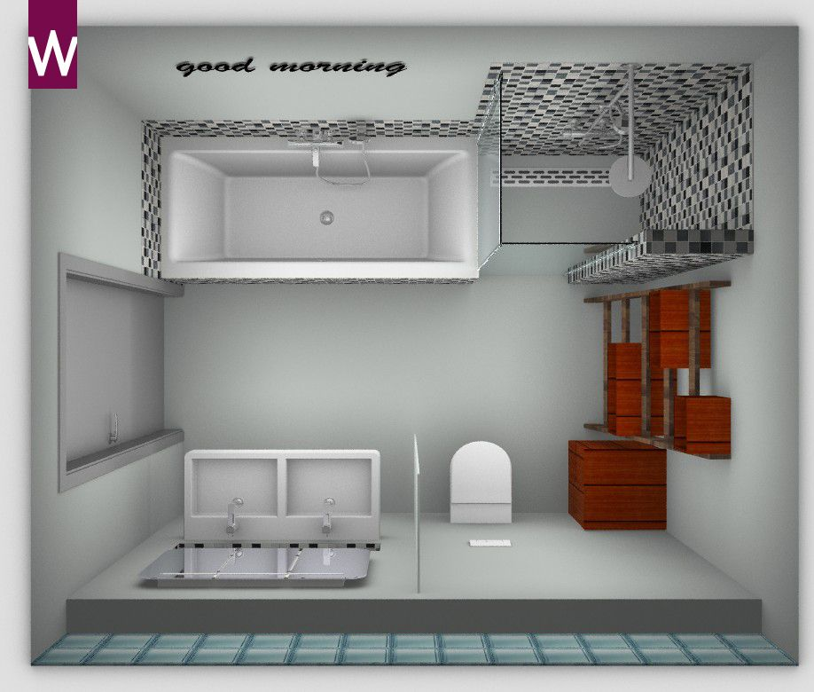 Badkamer ontwerpen pinterest tegels badkamer en for Badkamer zelf ontwerpen
