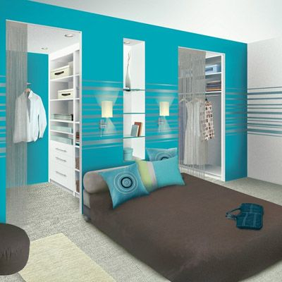 le dressing derri re la t te de lit tr s bonne id e d coration chambre bedroom. Black Bedroom Furniture Sets. Home Design Ideas