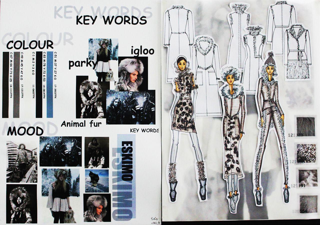 Eskimo Moodboard By Ifa Paris Student In Bachelor Fashion Design Fashion Design Portfolio Fashion Portfolio Layout Bachelor Fashion