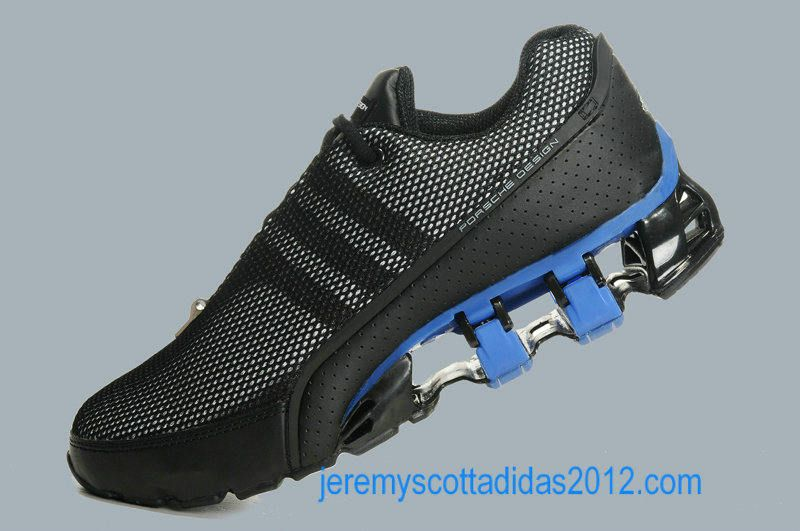 Blue Mens Black Adidas Bounce Titan 2012 Running Shoes Fashion Design