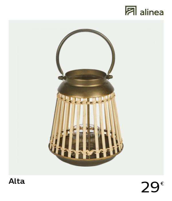 Alinea Decoration Alta Lanterne En Bambou Et Metal H23cm Lanterne Bambou Metal