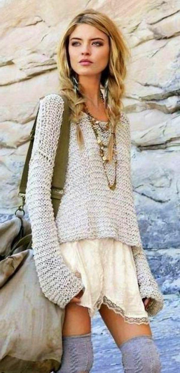Jolie tenue de jour Boho en 2019 Boho fashion fall