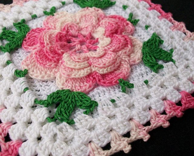 Large Crochet Rose Pattern Free : Running Water, a Big Rock, Chili Cheese Chicken, Rose ...