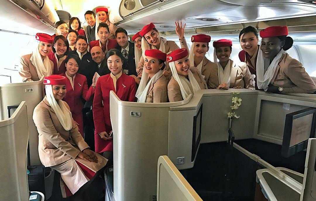 """from @flywith.madalina -  We had the pleasure to fly with this awesome Cathay Pacific crew to Bahrain to bring our aircraft back to Dubai.     Winter has truly hit the UAE as many parts of the country including Dubai and Abu Dhabi were covered in thick dense fog. Fog in Dubai provokes flight delays diversions and changes in our rosters. """"The safety of our passengers and crew is of utmost importance and will not be compromised""""     #unitedbywings #emirates #cathaypacific #dubai to #bahrain…"""