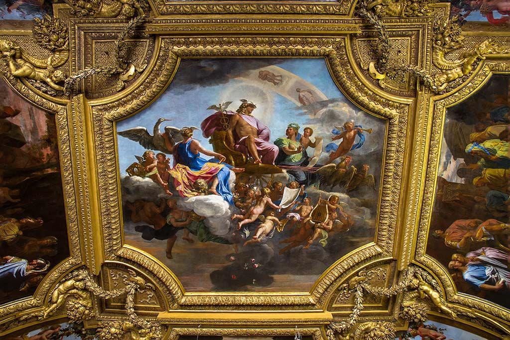 Plafond du salon de mercure peintures de jean baptiste de for Salon du vin versailles