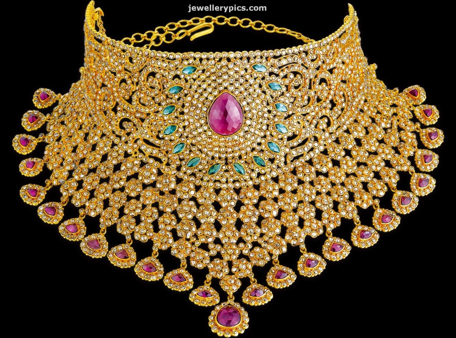 Http 3 Bp Blogspot Com Fkxwvnsqno4 Uufh4hdcbei Aaaaaaaaqru Gu V5sv2qay S1600 Kalyan J Choker Necklace Designs Gold Necklace Designs Bridal Diamond Jewellery
