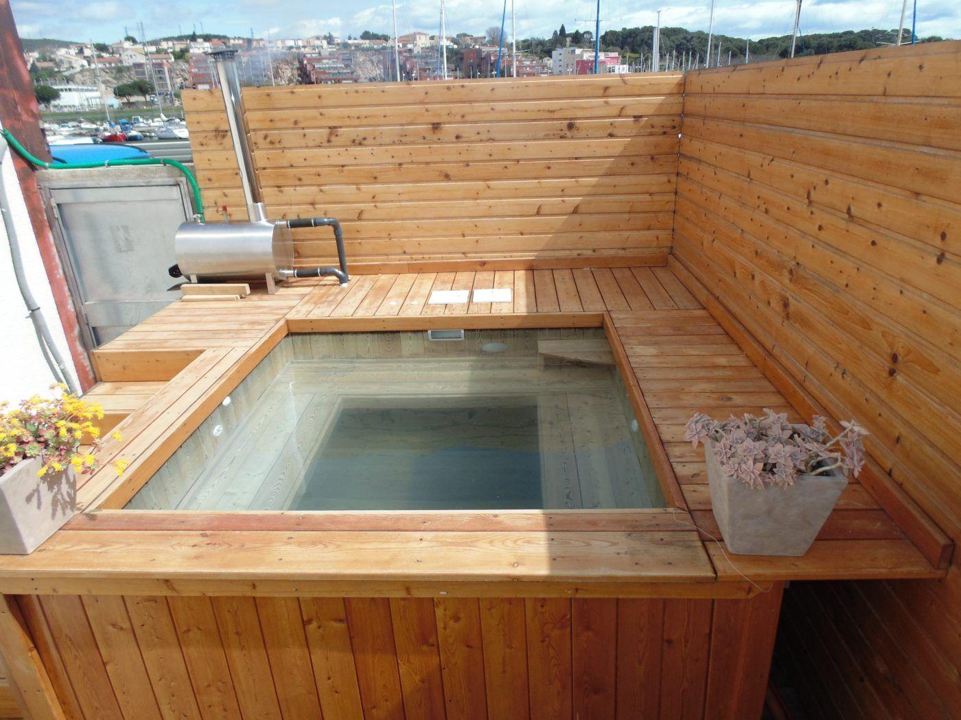 Pingl par armando kayhatu sur cool pinterest for Chauffage piscine bois