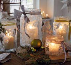 anleitung winterlicht aus einmachgl sern basteln weihnachten pinterest einmachgl ser. Black Bedroom Furniture Sets. Home Design Ideas
