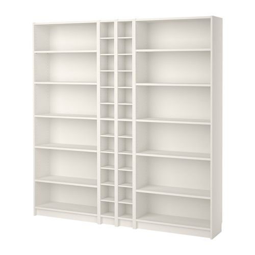 Billy Gnedby Bookcase White 78 3 4x11x79 1 2 With Images