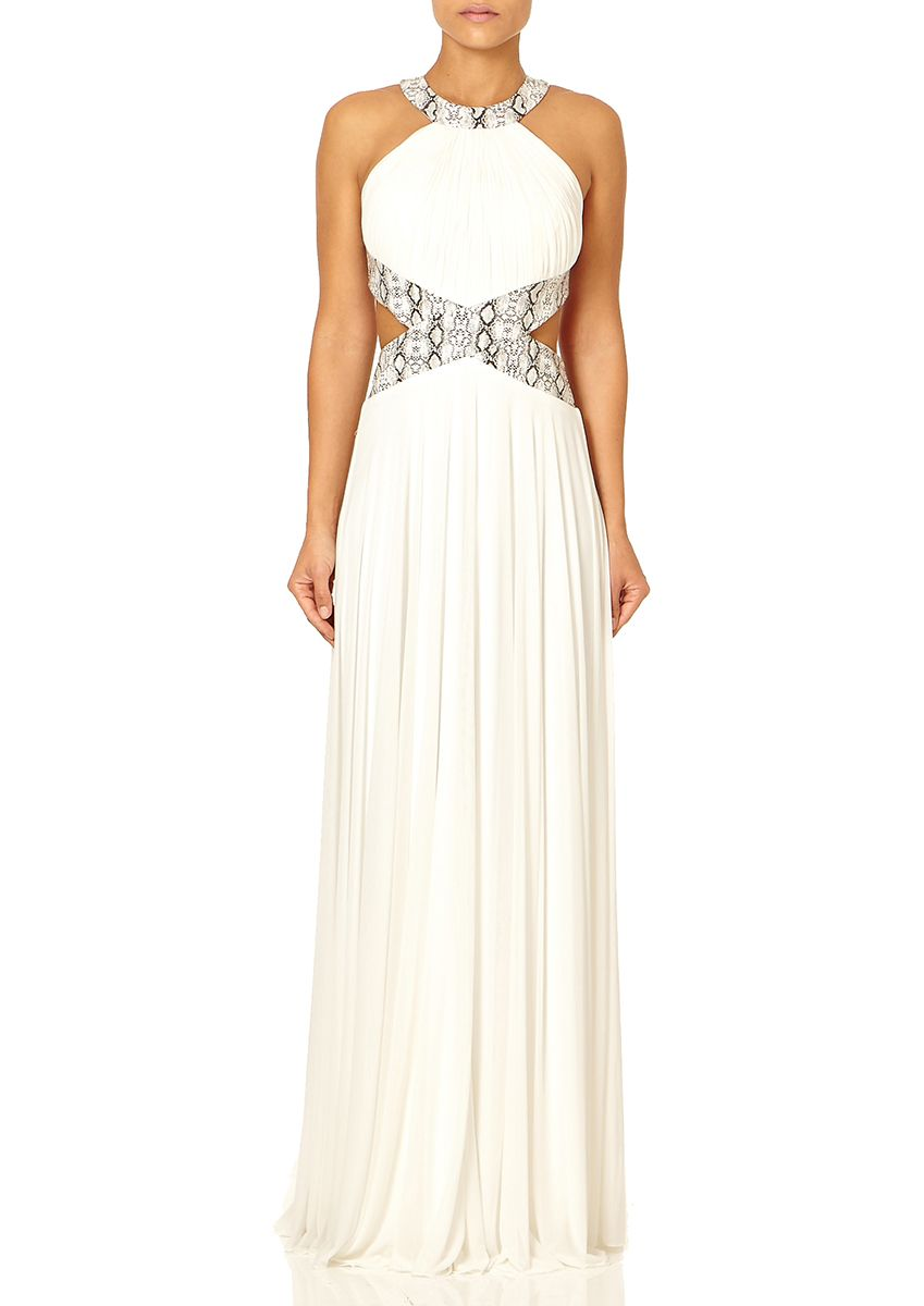 Immy ivory ruched bodice maxi dress from s pinterest bodice