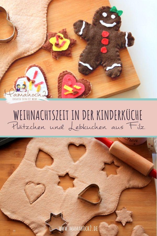 Weihnachtszeit in der Kinderküche- Plätzchen und Lebkuchen aus Filz