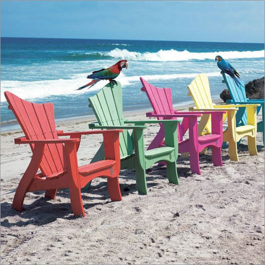 Take Five Contemporary Adirondack Chairs Sillas, En la playa y Color - sillas de playa