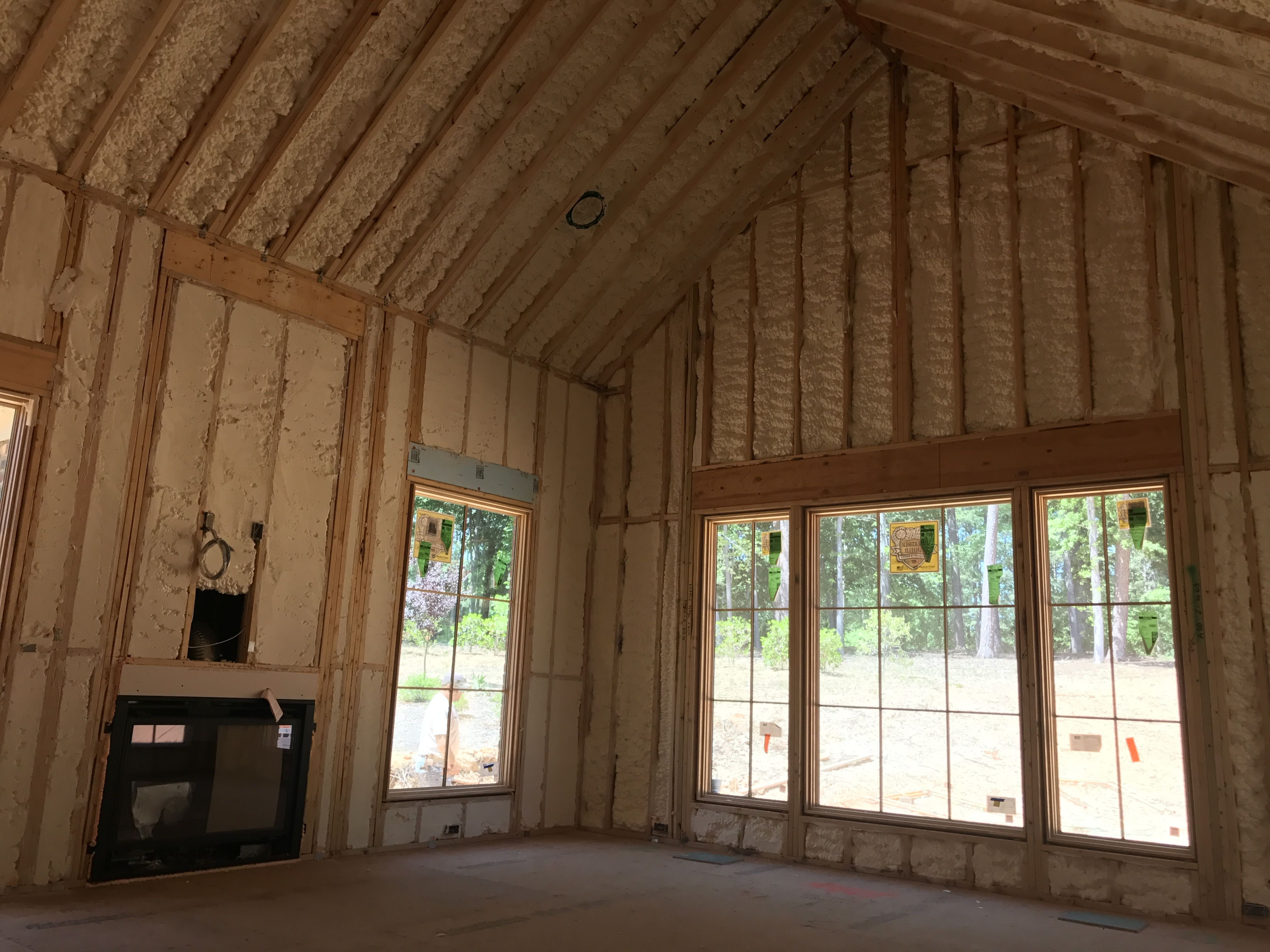 These Homeowner Are Smart Spray Foam Insulation On The Exterior