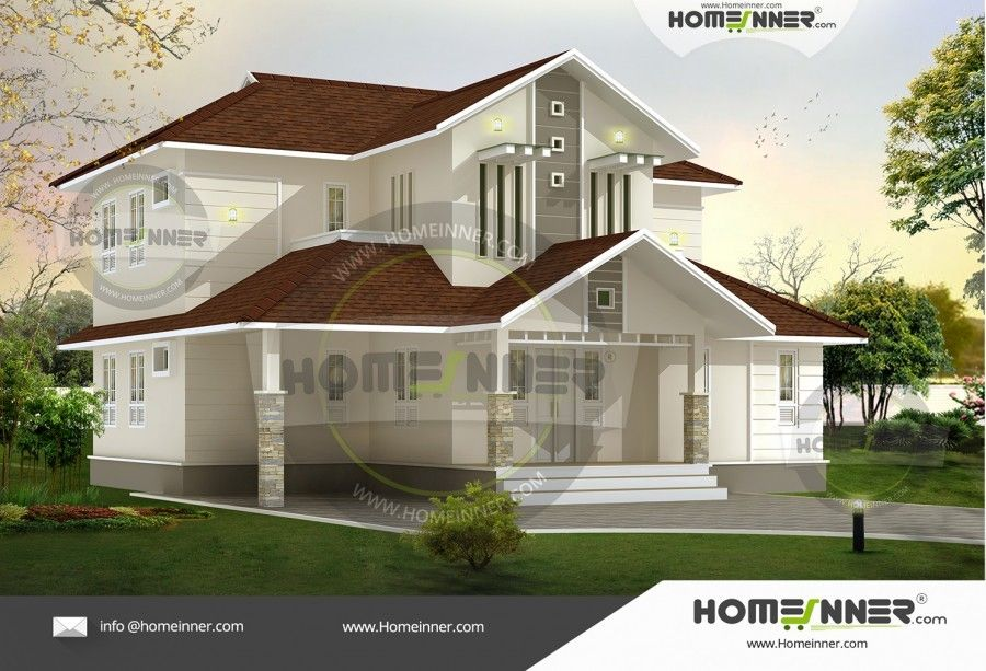 Delightful 1937 Sq Ft 4 Bedroom House Structure Design In India House Structure Design,  Indian Home