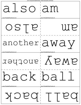 Frys Sight Words Second 100 Template Sight Word Flashcards Printable Flash Cards Flashcards