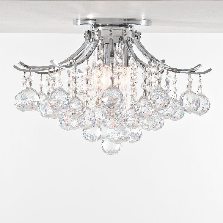 Jm Contour Design 3 Light 16 Quot Flush Mount Crystal