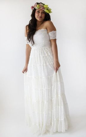6 Vintage Hippie Wedding Dress Ideas And Plus Sizes For Second