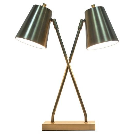Olson collection two head task lamp brass threshold target