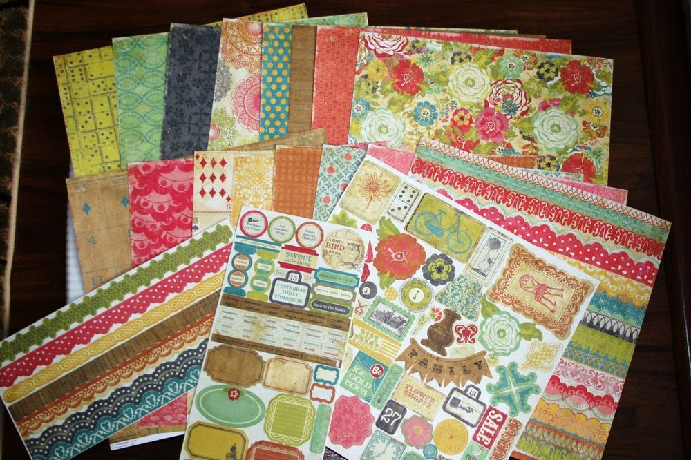 Crate Paper Restoration Collection for cards scrapbook paper stickers vintage