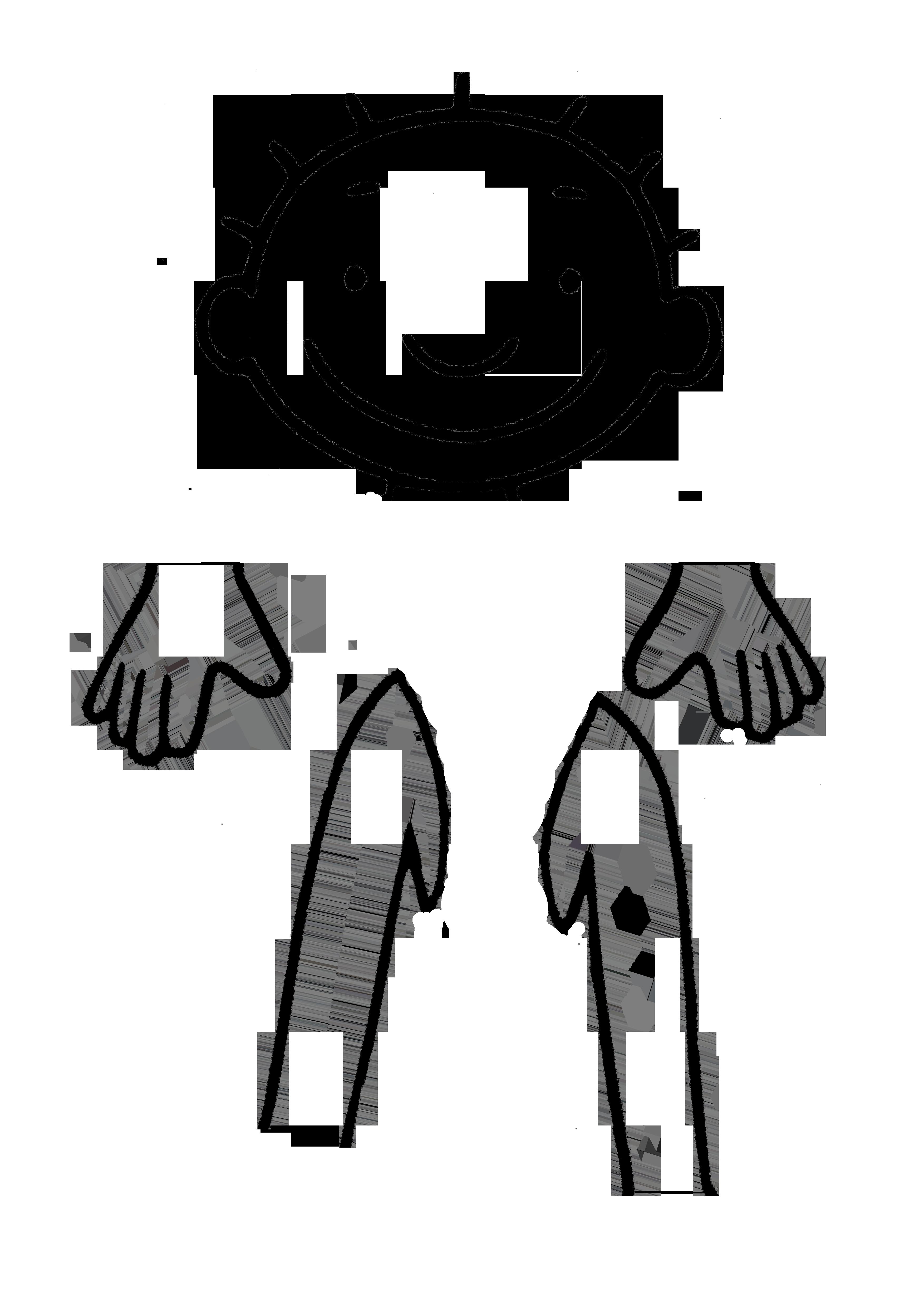 puzzel jules hoofd handen armen a3 formaat lichaam