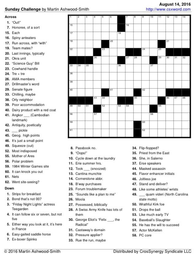 graphic relating to Washington Post Crossword Printable referred to as My Washington Report \