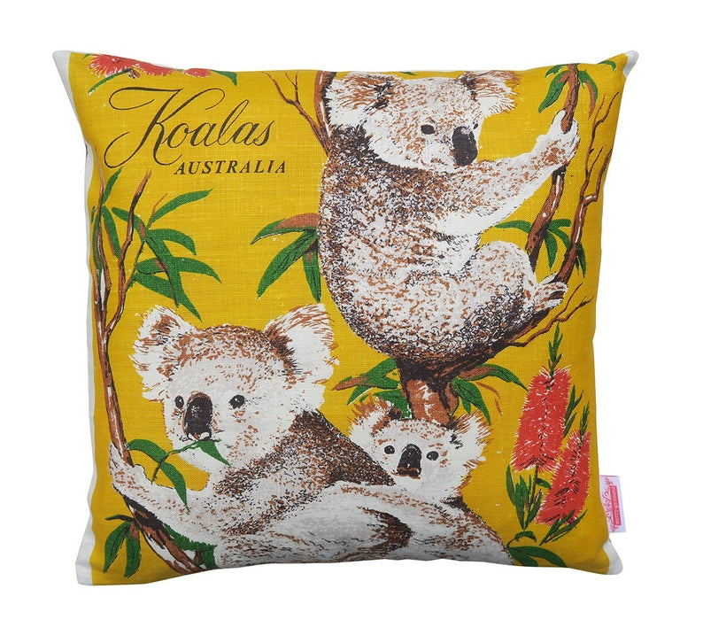 KOALAS X 4 SKETCHED DESIGNS AUSTRALIAN GIFT//SOUVENIR TEA TOWEL