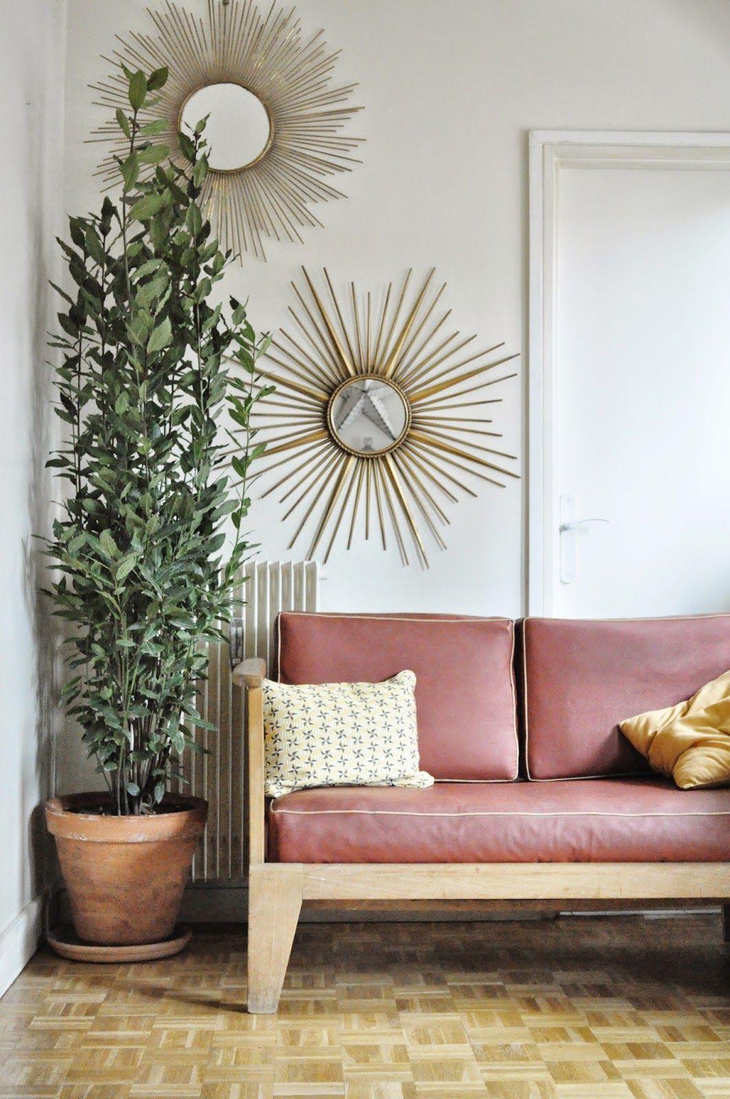 idée déco salon avec un miroir soleil | Miroir soleil | Pinterest ...