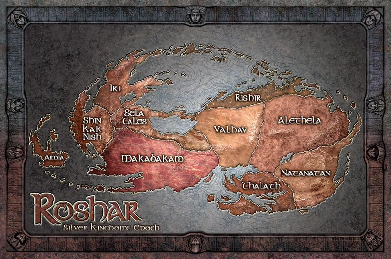 stormlight archive world map Map Of Roshar Stormlight Archive The Way Of Kings King Art