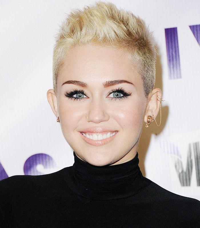 Miley Cyrus faux hawk pixie cut