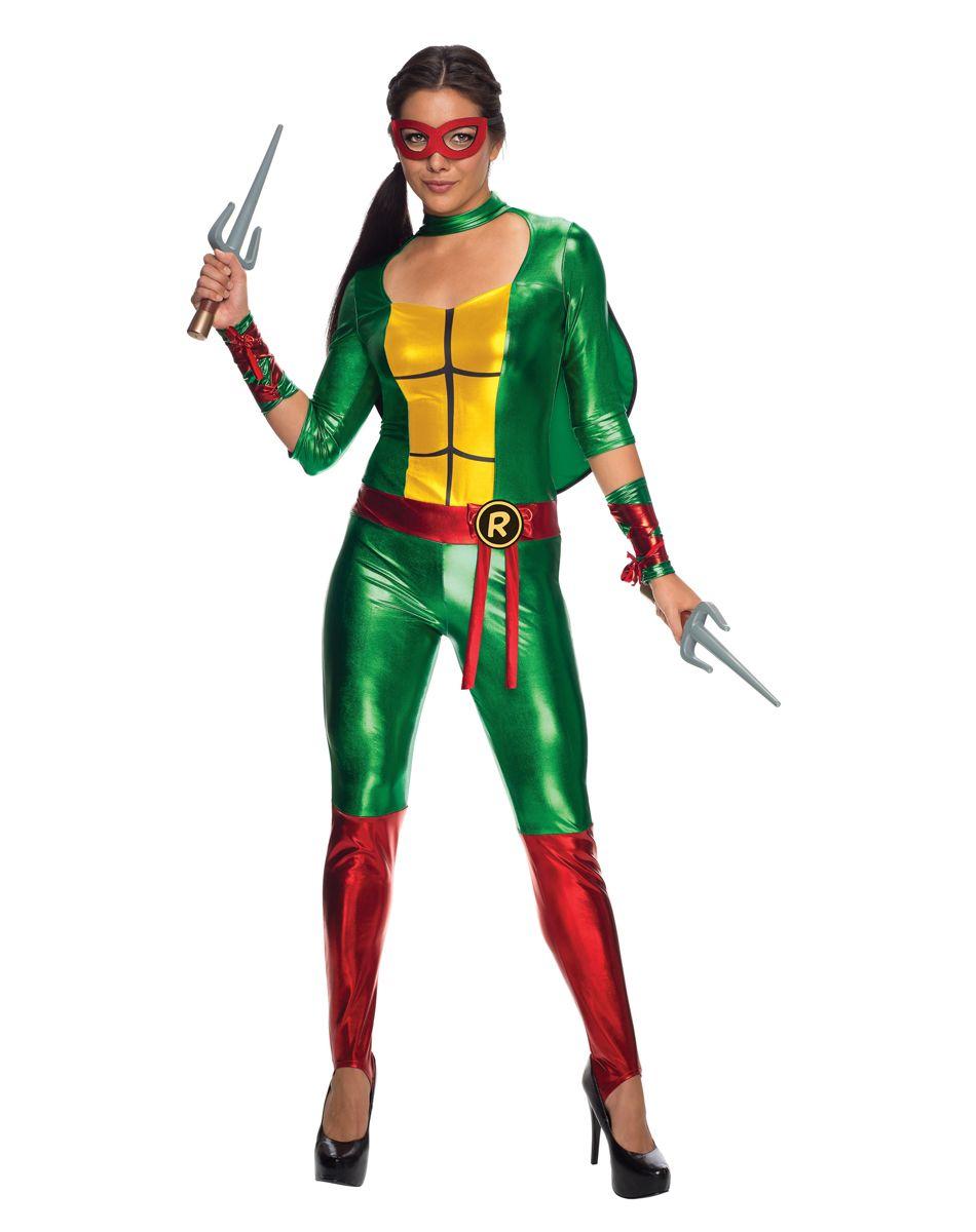 Teenage Mutant Ninja Turtles Raphael Jumpsuit Adult Womens Costume ...