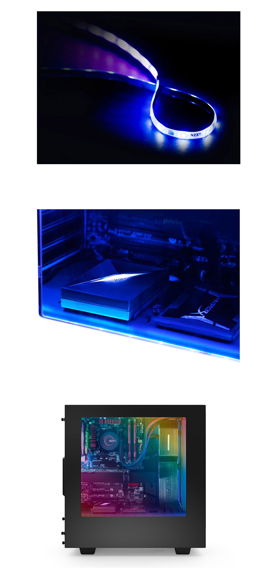 PC Case Gear NZXT Hue+ RGB Lighting Kit [AC-HUEPS-M1] -  sc 1 st  Pinterest & NZXT Hue+ RGB Lighting Kit | Pc cases PC and Software