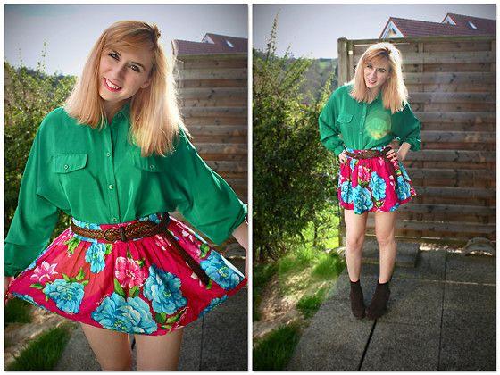 Hollister Floral Skirt 03ad4ef0c