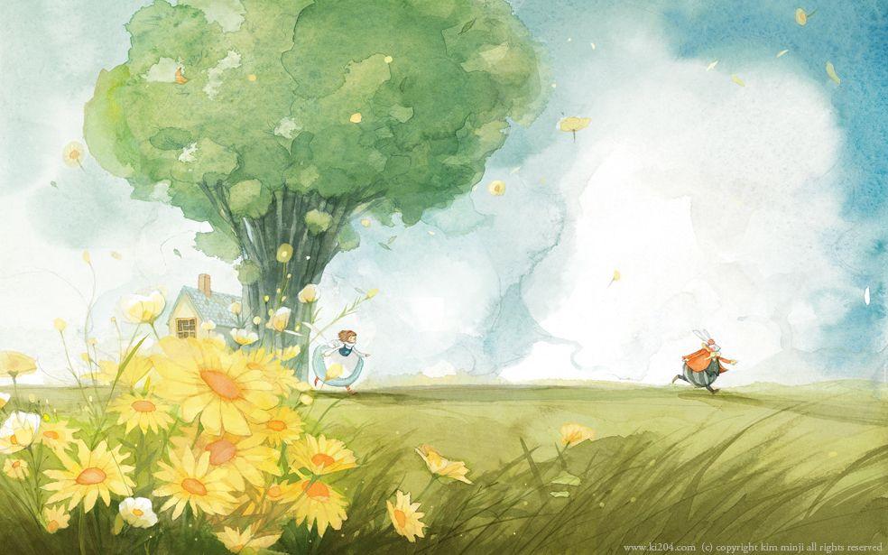Alice in Wonderland illustration by Kim Minji