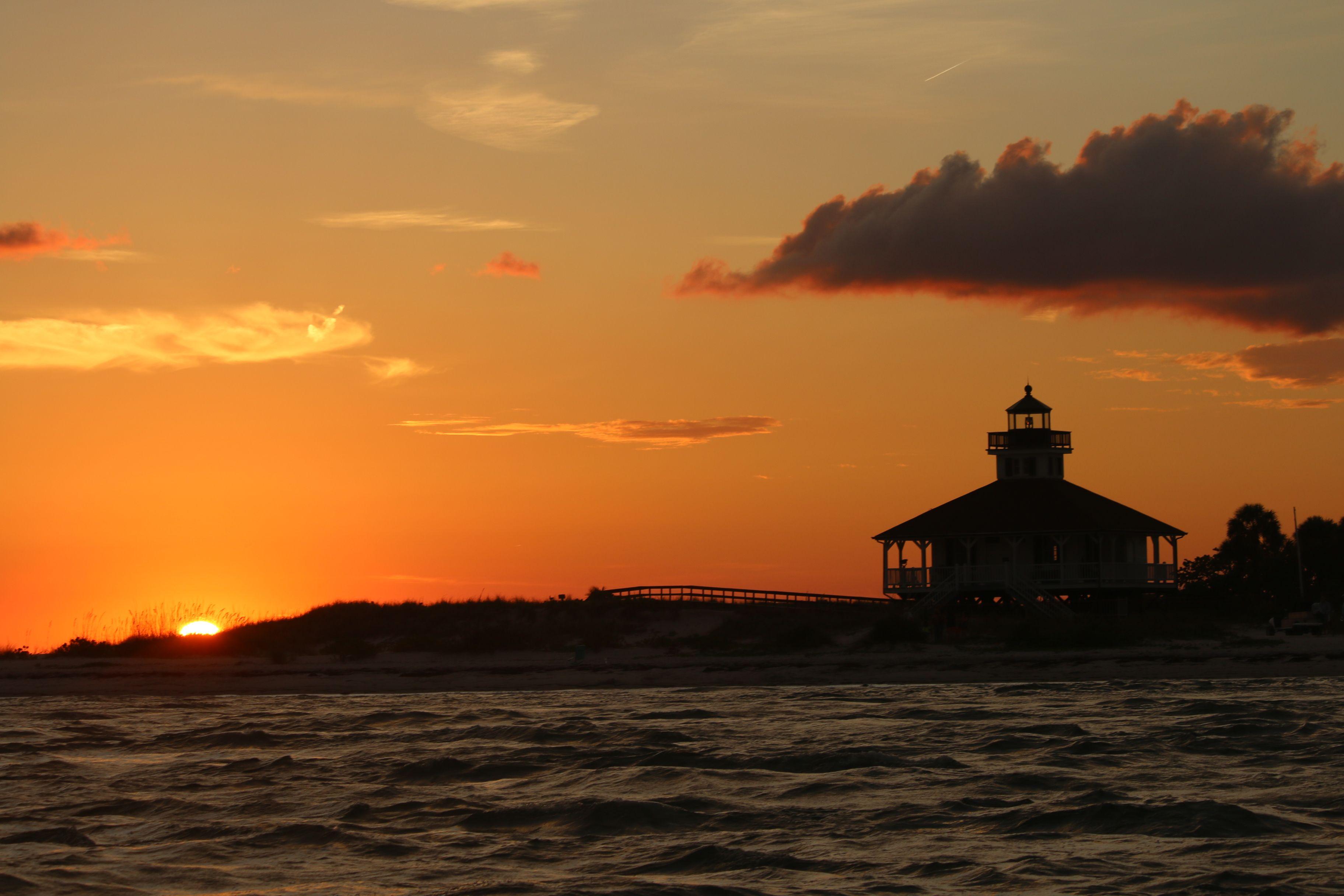 Boca grande sunset white sand beach sunset turquoise water