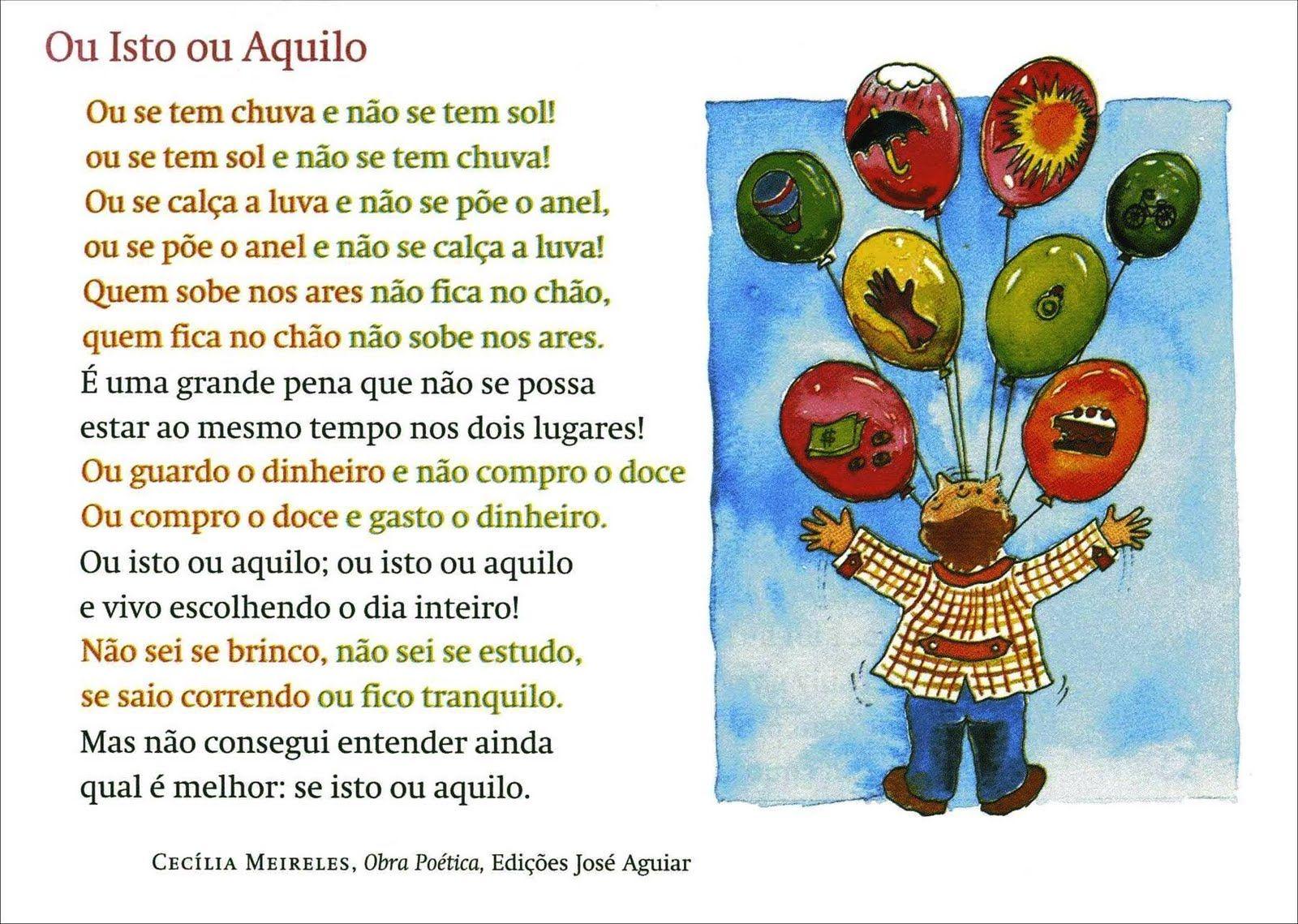 Ou Isto Ou Aquilo Cecilia Meireles Livros Frases E Poemas