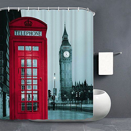 Potentcera Shower Curtain 72 X 72 Inch Fabric Waterproof Curtains